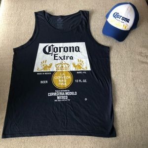 Urban Outfitters Corona Beer Shirt & Hat Set *NEW*